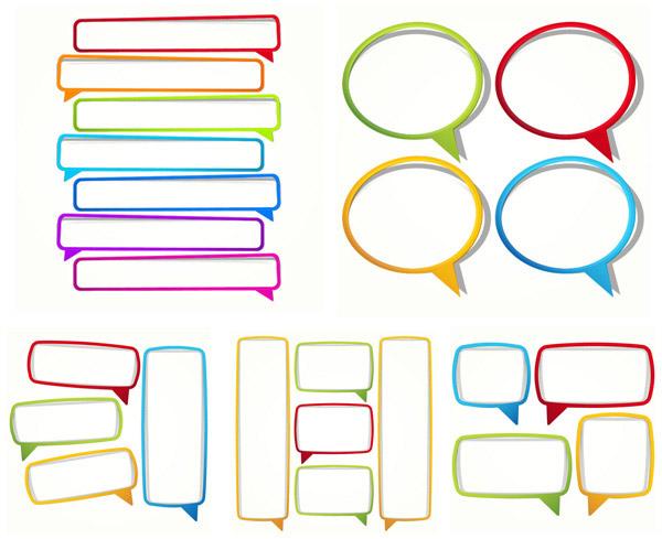 关键词: 彩色纸质对话框矢量素材,彩色,纸质,对话框,贴纸,纸条,边框