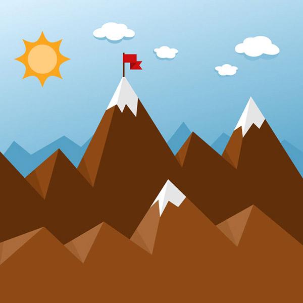 扁平化山峰