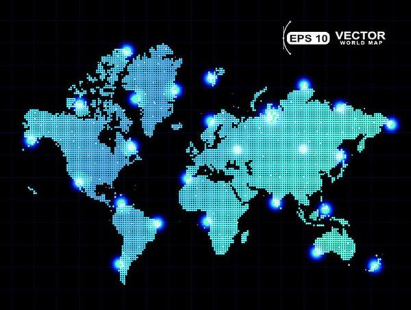 素材分类: 矢量地图所需点数: 0 点 关键词: 世界地图分布图素材分布