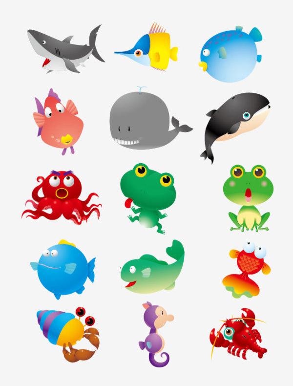 卡通海洋動物圖片