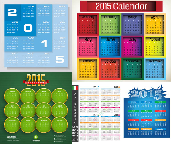 矢量素材,矢量图,2015,羊年日历,乙未年,日历素材,年历素材,日历表图片