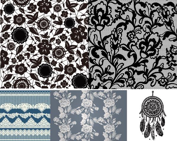 矢量素材,矢量图,设计素材,底纹,背景,蕾丝,花纹,花边,图案,镂空