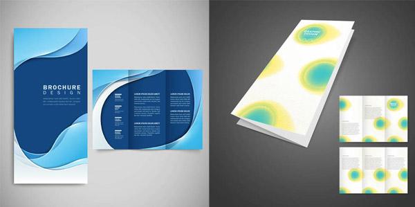 矢量素材,矢量图,设计素材,画册设计,折页设计,三折页,蓝色,圆形,折图片