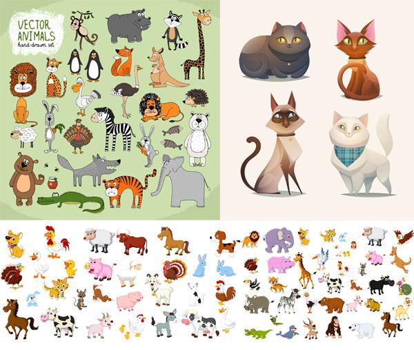 矢量卡通动物所需点数: 0 点 关键词: 超多款的可爱卡通风格动物矢量