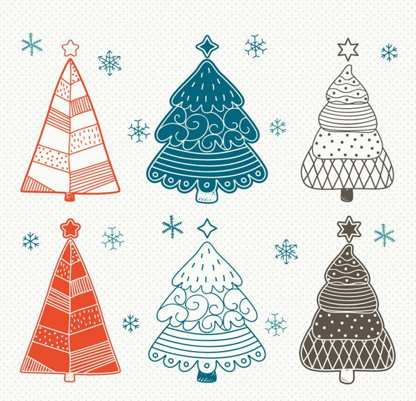 0 点 关键词: 彩绘圣诞树设计矢量素材,雪花,圣诞树,圣诞节,彩绘