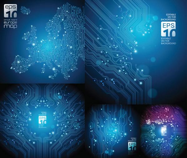 设计素材,光效,电子线路板,pcb,印刷线路板,科技,制造,印制电路板