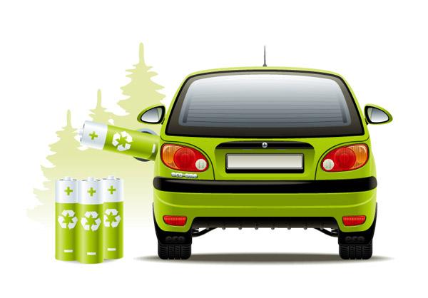 混合动力汽车,太阳能电池,氢燃料电池,交通工具,电动汽车,矢量图,eps