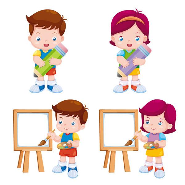 0 点 关键词: 卡通绘画孩童设计矢量素材,卡通,绘画,调色板,画板