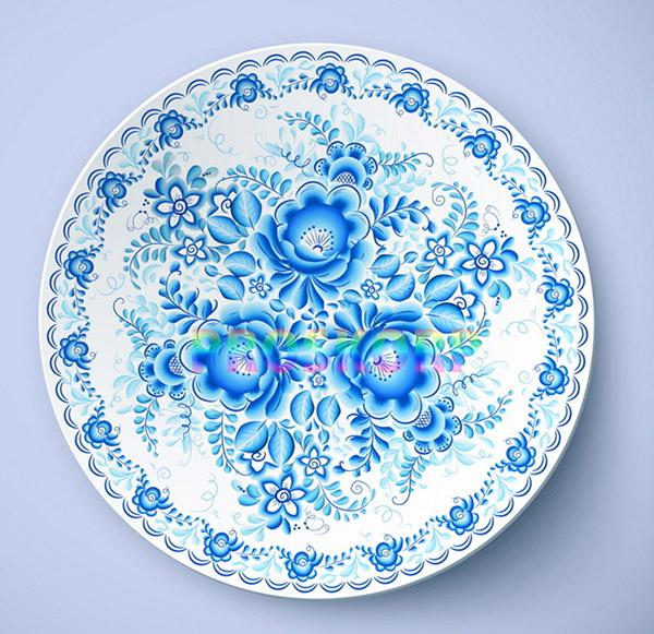 矢量餐具厨具所需点数: 0 点 关键词: 青花瓷瓷盘素材,瓷盘,盘子