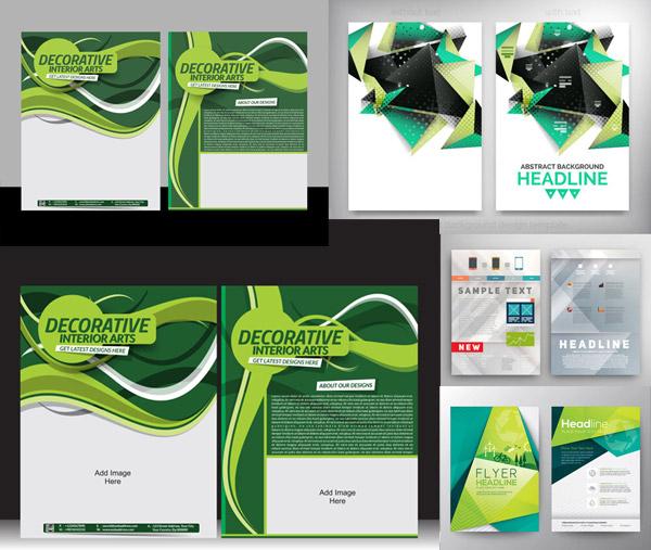 平面广告所需点数: 0 点 关键词: 创意画册抽象几何图案设计矢量素材