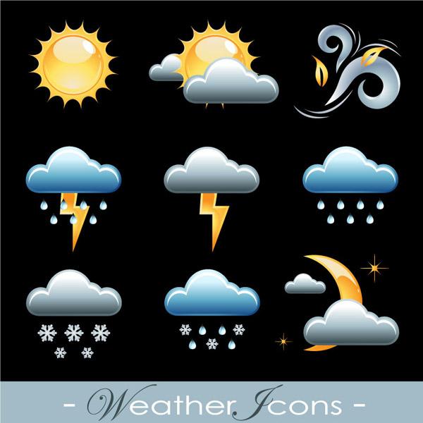 天气,多云,图标,冰雹