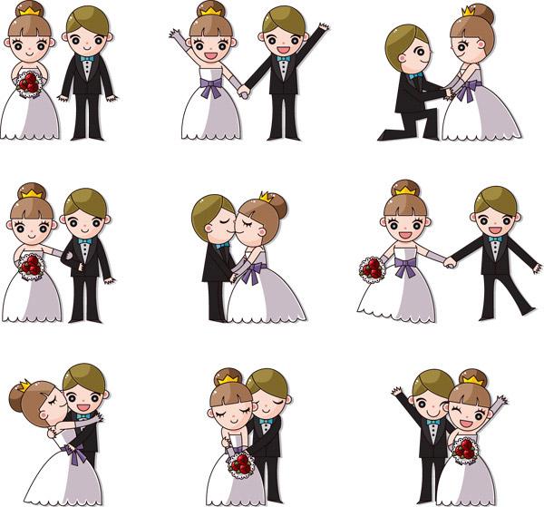 可爱卡通婚礼