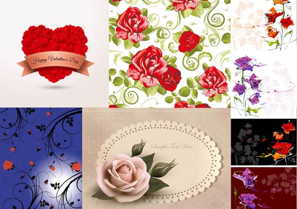 玫瑰花边框创意_素材中国sccnn.com