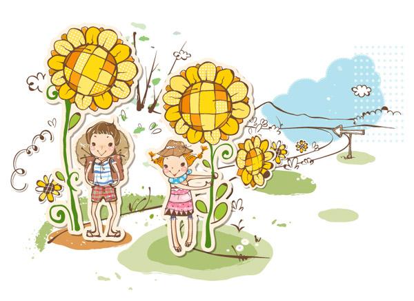 儿童剪纸贴画_素材中国sccnn.com
