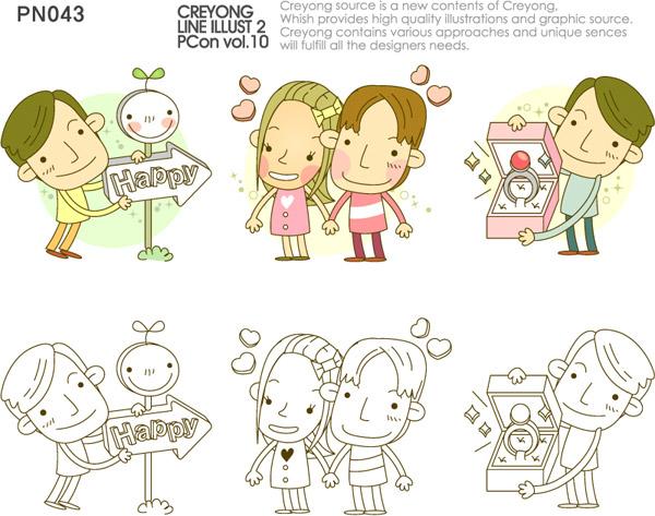 创意卡通情侣_素材中国sccnn.com