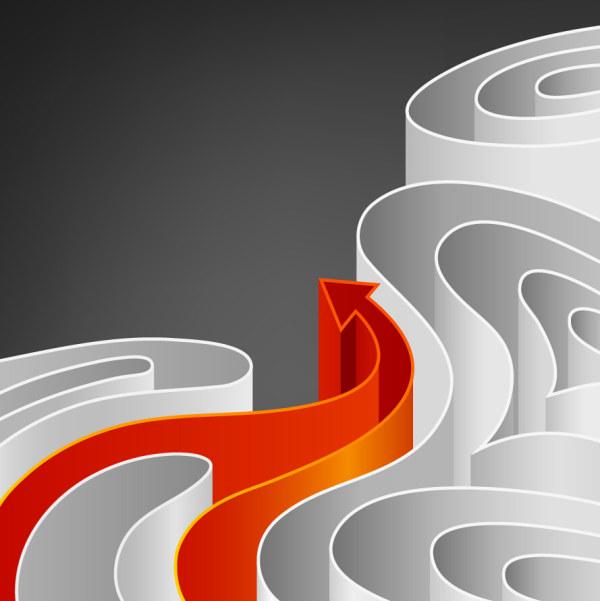 素材分类: 矢量箭头图形所需点数: 0 点 关键词: 弯曲的箭头,箭头