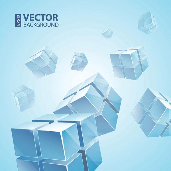 精美立体方块设计矢量素材