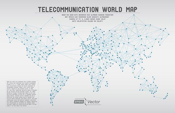 全球地图矢量