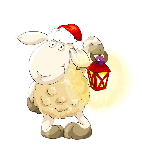 手绘羊年设计元素免费下载,2015,动物,动物世界,卡通动物,卡通羊,绵羊