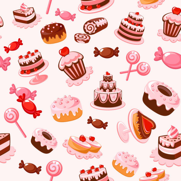 卡通甜品背景