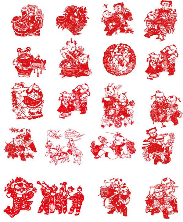 素材分类: 矢量传统文化所需点数: 0 点 关键词: 中国传统剪纸艺术矢