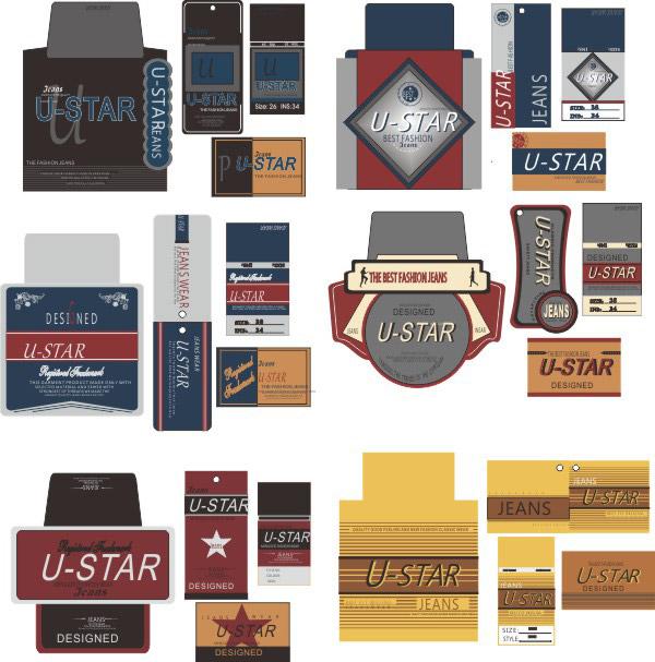 素材分类: 平面广告所需点数: 0 点 关键词: 服装吊牌设计矢量图