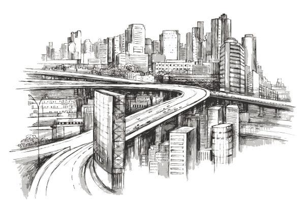 桥结构设计白描