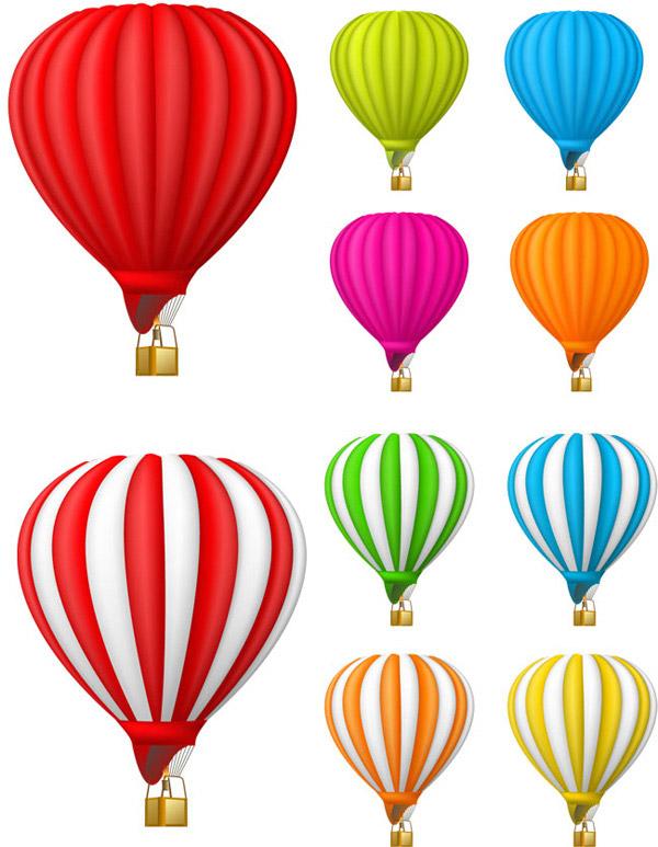 彩色热气球矢量图片