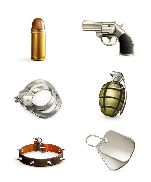 军事装备图标矢量素材