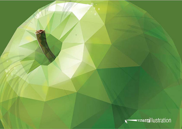 0 点 关键词: 几何绿苹果矢量素材,多边形水果,立体苹果,三角形图案