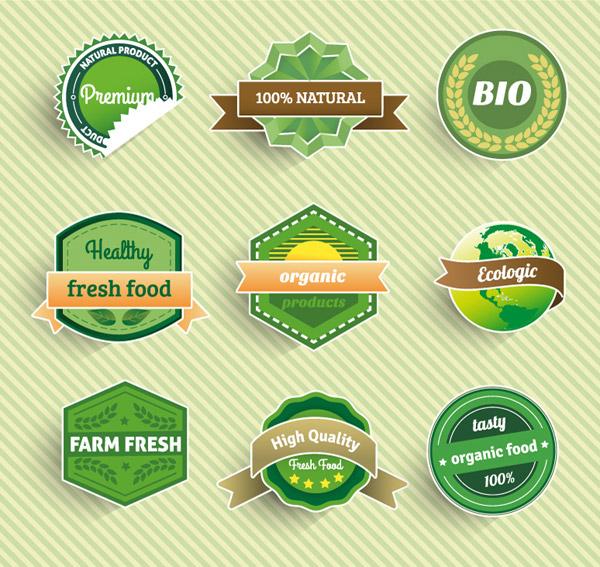 0 点 关键词: 精致绿色食品标签标贴矢量素材,绿色食品,天然食品