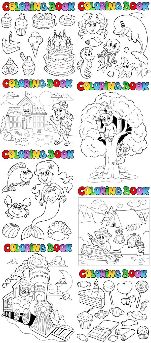 卡通简笔画模板_素材中国sccnn.com