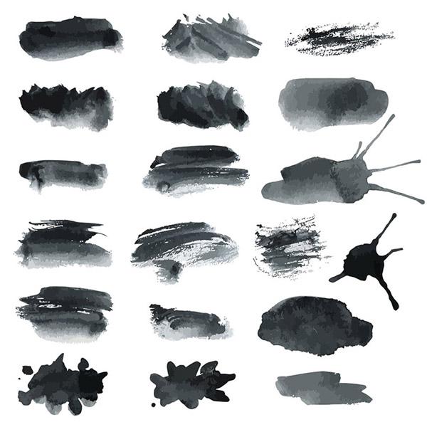0 點 關鍵詞: 毛筆筆觸矢量素材,中國風,傳統繪畫,水墨筆觸,筆觸背景