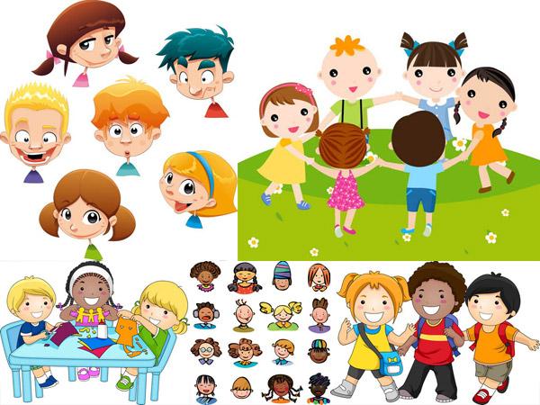 卡通,可爱,人物,小孩,儿童,小朋友,小男孩,小女孩,小学生,教育,玩游戏