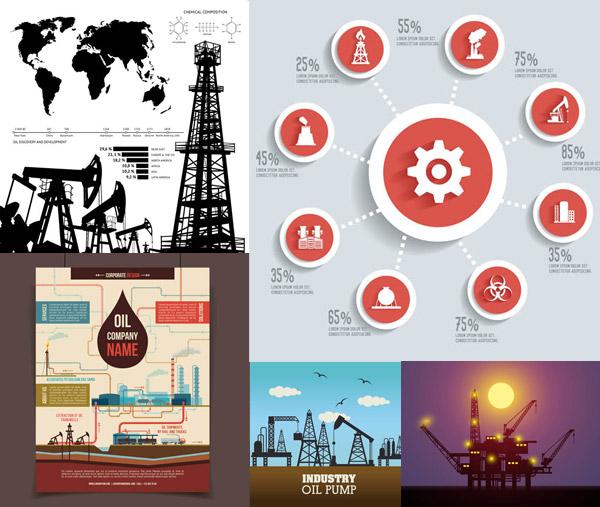 矢量工业所需点数: 0 点 关键词: 能源化工石油制造行业等矢量素材v4