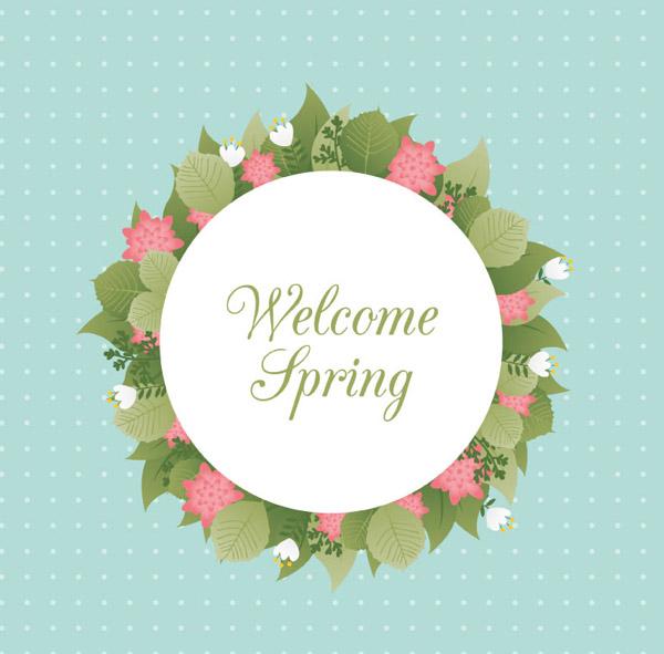 欢迎春天鲜花环