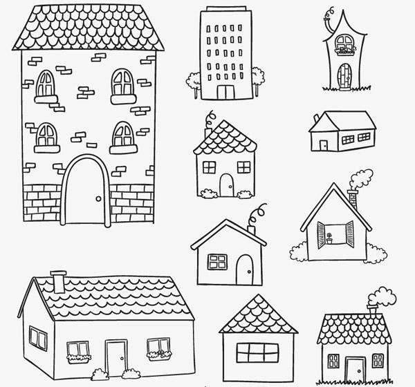 手绘房屋设计