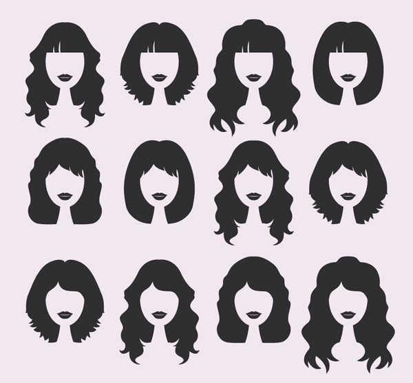 素材分类: 矢量女性人物所需点数: 0 点 关键词: 12款女子发型设计