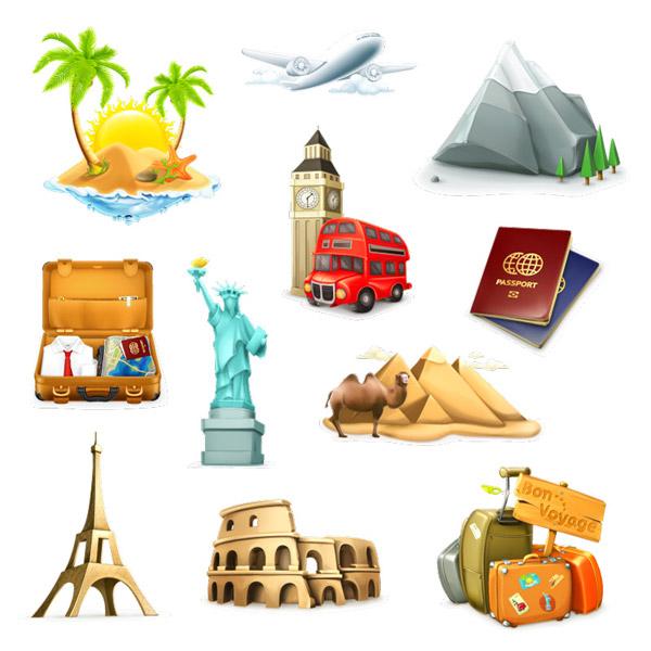 旅游图标_旅游图标矢量图_图标标志