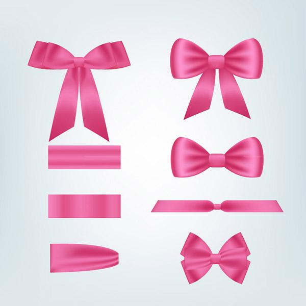0 点 关键词: 粉色蝴蝶节矢量素材,丝带,蝴蝶结,绸带,领结,节日元素