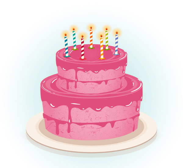 粉色生日蛋糕