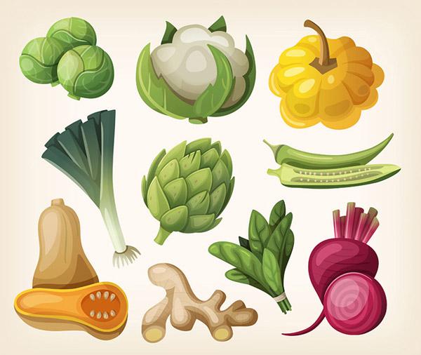 时尚蔬菜设计
