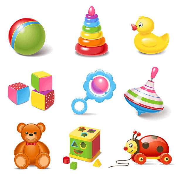 可爱的儿童玩具