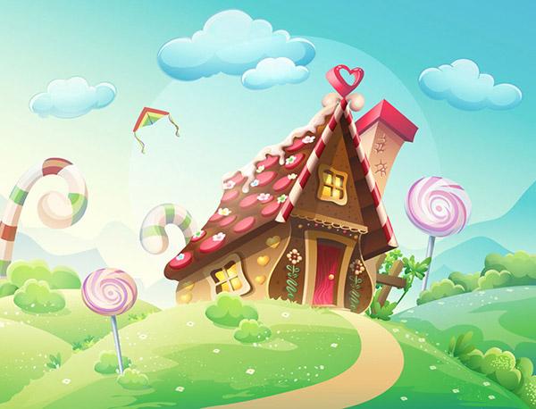 糖果屋图片卡通