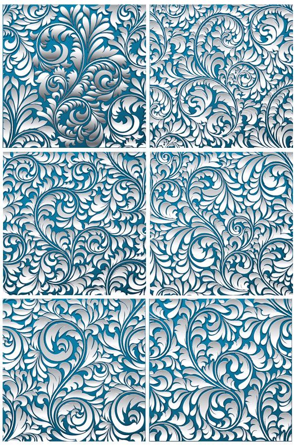 矢量花纹所需点数: 0 点 关键词: 白色立体花纹矢量素材,3d花纹,欧式
