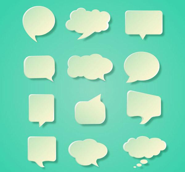0 点 关键词: 精美透明对话图标矢量素材,语言气泡,对话气泡,立体