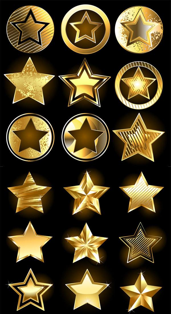 黄金五角星图标