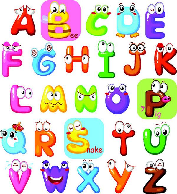可爱的英文字母高清图片