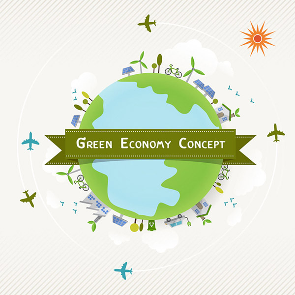 保護地球的手畫海報設計