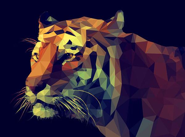 多边形老虎